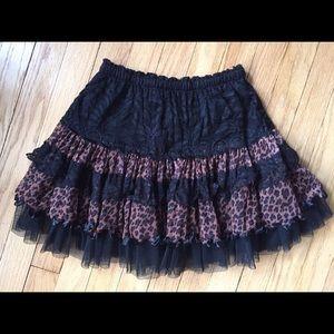 ♥ RACHAEL & CHLOE leopard and lace petticoat